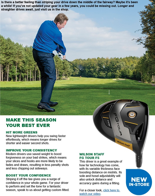 Enjoy longer and straighter drives this year