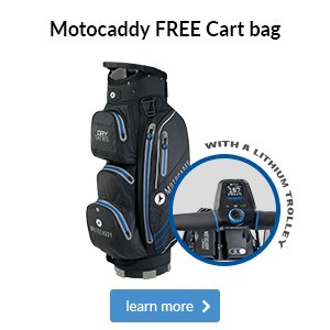 Free cart bag with a Motocaddy Lithium trolley